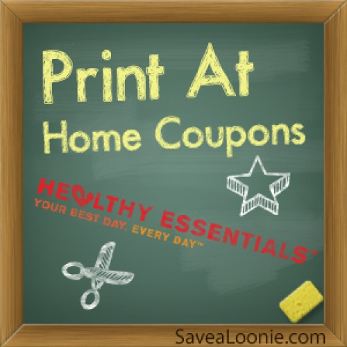 Print at Home Coupons: Healthy Essentials