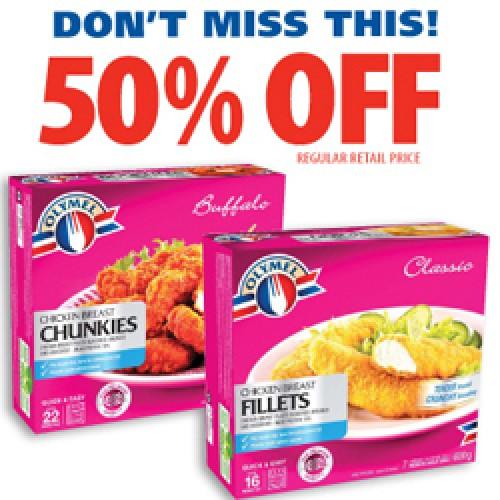 Metro Ontario – 50% Off Olymel Chicken