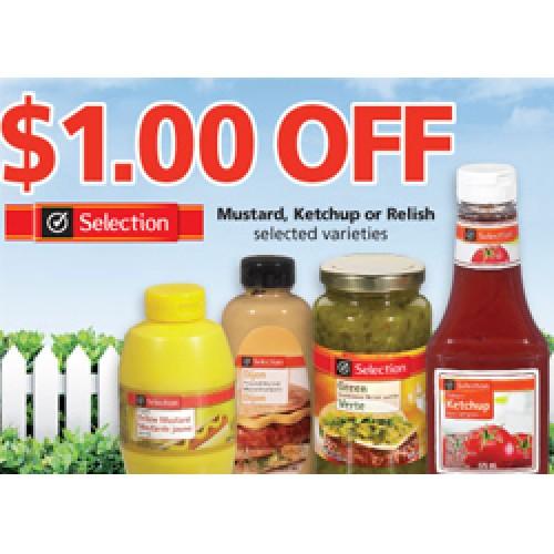 Metro Ontario – $1.00 Off Selection Condiments