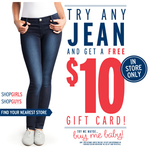 Bluenotes: $10 Gift Card When You Try Any Jean