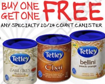 Metro – BOGO Free Tetley Specialty Tea