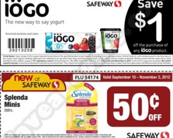 New at Safeway – IOGO Yogurt & Splenda Minis