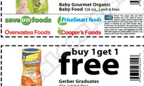 OWFG – BOGO Baby Gourmet & Gerber Graduates