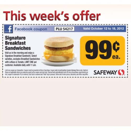 Safeway – Signature Breakfast Sandwiches