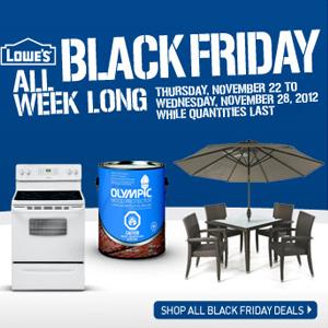 lowes black friday sale. Black Bedroom Furniture Sets. Home Design Ideas