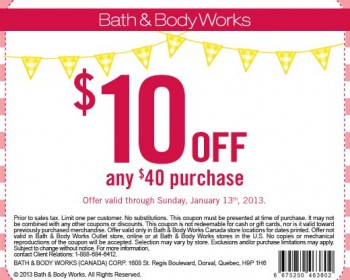 Bath And Body Works 40% Off coupon codes. Updated November Bath And Body Works coupon codes for 40% Off.