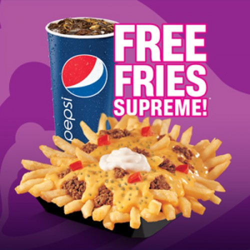 Taco Bell – Free Fries Supreme Coupon