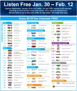 60 FREE Sirius XM Channels Starting January 30th! — Deals from SaveaLoonie!