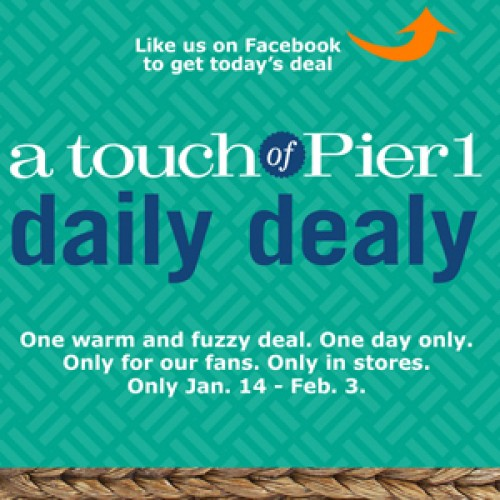 Pier 1 Daily Dealy – Free Mug with Purchase