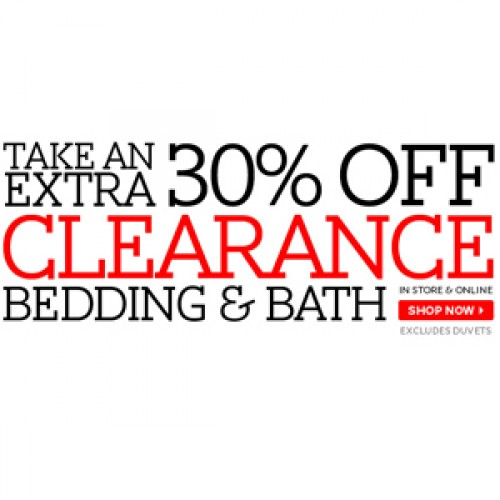 The Bay – 30% Off Clearance Bed & Bath