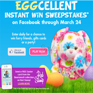 Build-a-Bear EGGcellent Instant Win Sweepstakes — Deals from