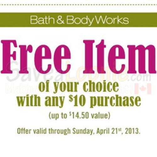 Bath & Body Works – Free Item Coupon