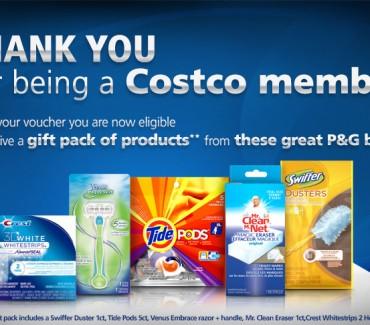 P&G NEW Costco Members BrandSampler is LIVE!