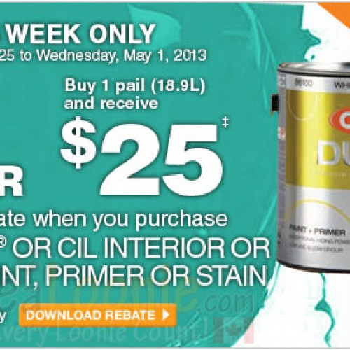 Home Depot – Behr or CIL Paint Rebate