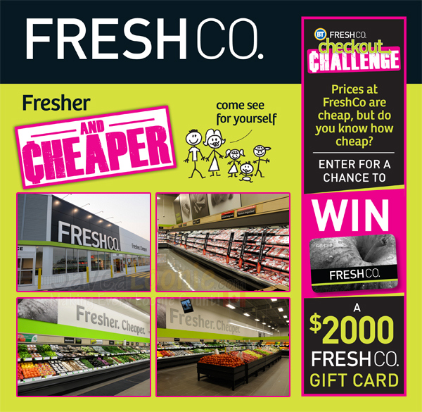 FreshCo Checkout Challenge Contest — Deals from SaveaLoonie!