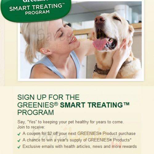 Greenies Smart Treating Sweepstakes + Coupon