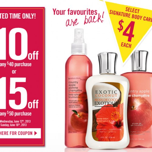 Bath & Body Works – Semi-Annual Sale + Coupon