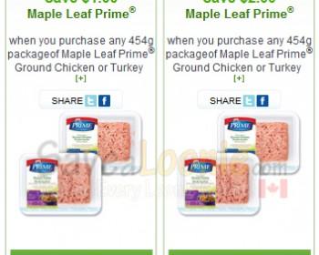 webSaver.ca – Maple Leaf Prime Ground Turkey or Chicken
