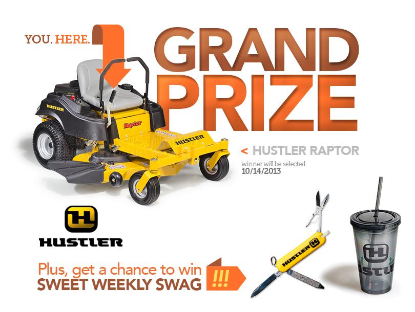 Hustler Turf Raptor Mower Giveaway