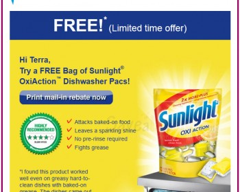 Check Your Emails ~ Free Sunlight OxiAction Rebate