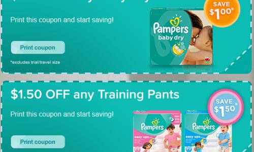 Hidden brandSAVER – Pampers Coupon Portal