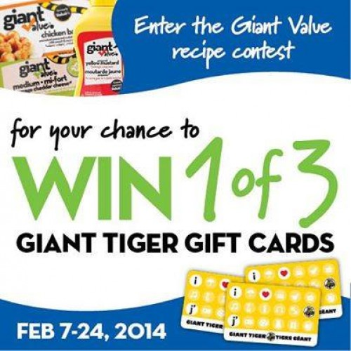 Giant Tiger – Giant Value Recipe Contest