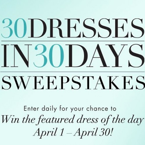 Guess 30 Dresses in 30 Days Sweepstakes