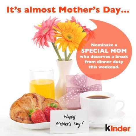 kinder canada mother 39 s day giveaway. Black Bedroom Furniture Sets. Home Design Ideas
