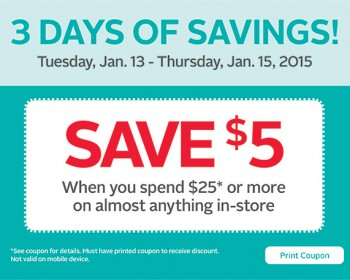 Rexall – $5 Off Coupon