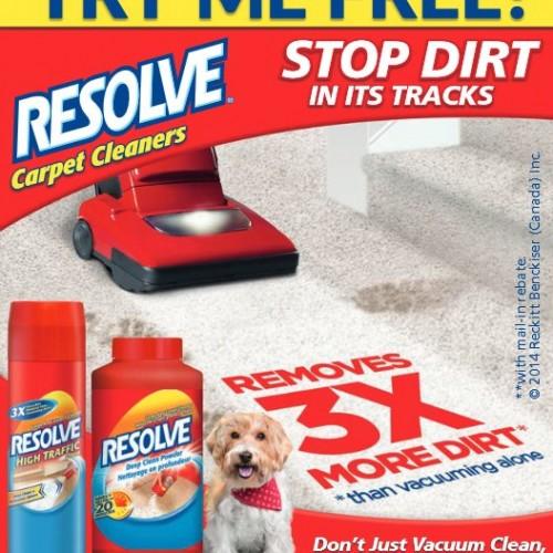 Free Resolve Carpet Cleaner Mail in Rebate