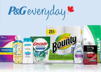 P G Everyday Canada Coupons Free Samples Deals From Savealoonie