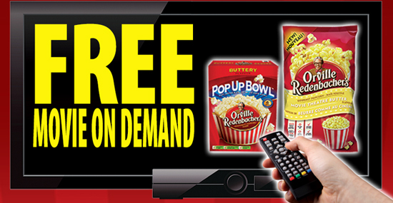 orville redenbacher 39 s free movie on demand offer. Black Bedroom Furniture Sets. Home Design Ideas