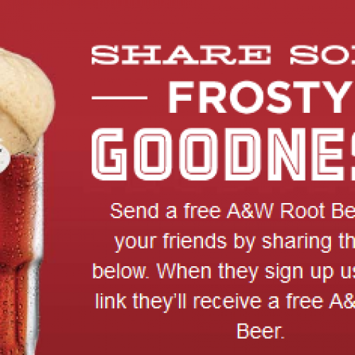 Free A&W Root Beer