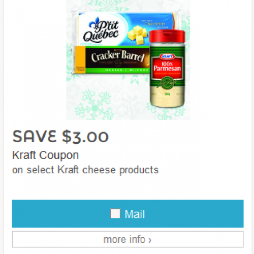 Save.ca – Kraft Cheese Coupons
