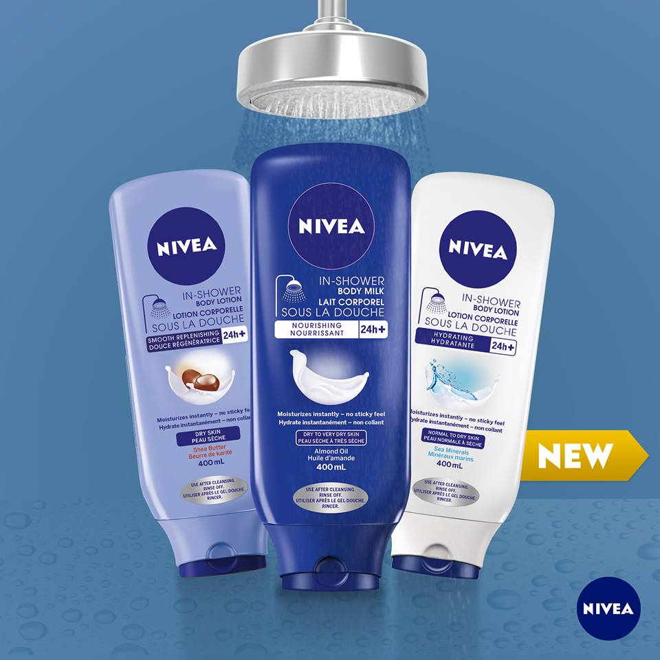 nivea inshower body lotion giveaway