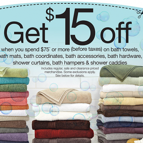 Home Outfitters – $15 Off Bath Coupon