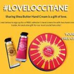 Free L'Occitane Collector's Hand Cream Tin