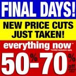 Target Canada Liquidation Sales