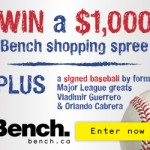 Bench Shopping Spree + Autographed Baseball Contest