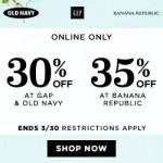 Old Navy, Gap & Banana Republic – Coupon Code