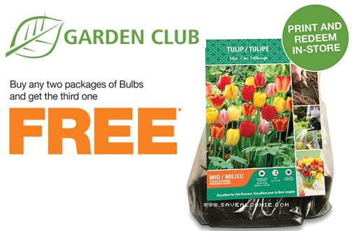 Home Depot B2g1 Free Garden Bulbs Coupon