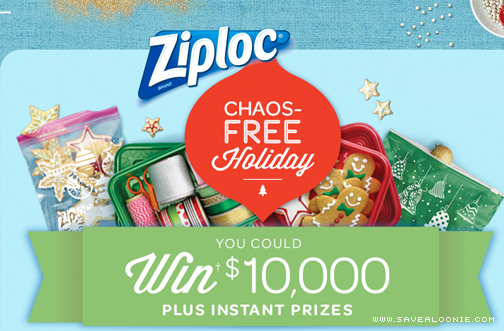ziploc holiday sweepstakes ziploc chaos free holiday sweepstakes 2162