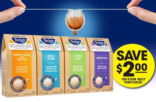 Tetley Signature Collection Tea Coupon Deals From