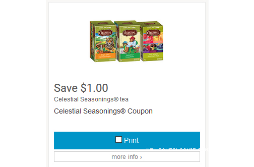 Celestial Seasonings Tea Only $1.50 At Walgreens Starting ...