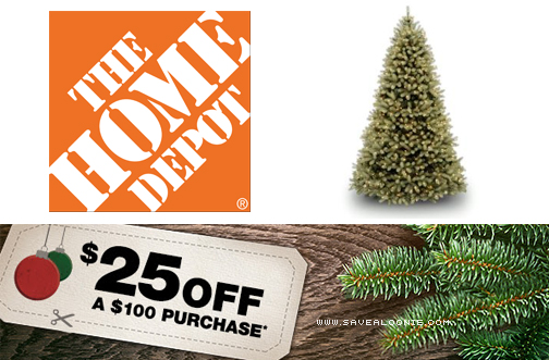 Home Depot Christmas Tree Coupon Offer