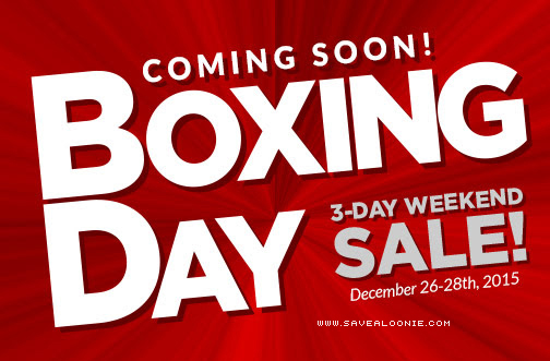 Canadian Tire Boxing Day Flyer Deals From Savealoonie