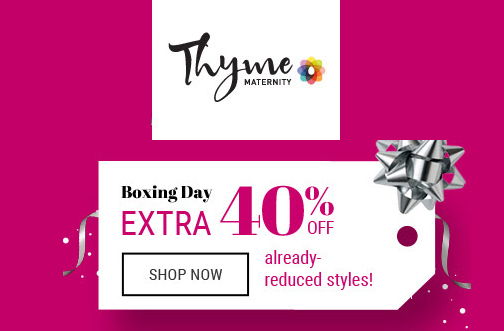 Thyme maternity coupon december 2018