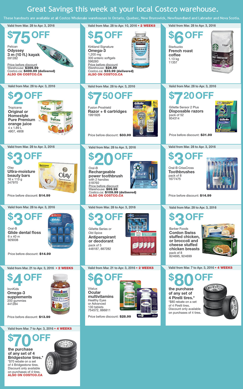 Costco Warehouse Coupons March 28th April 3rd Deals