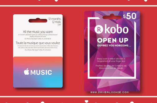 Shoppers Drug Mart Apple Music Kobo Gift Cards Deals From