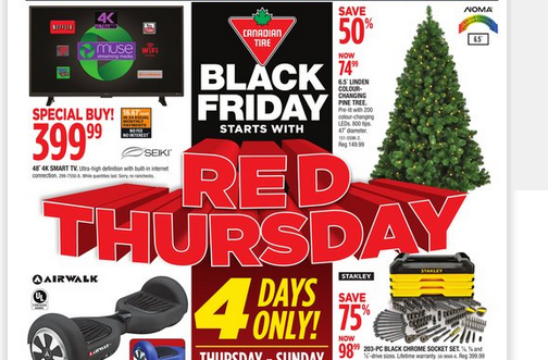 Canadian Tire Black Friday Flyer 2016 Deals From Savealoonie